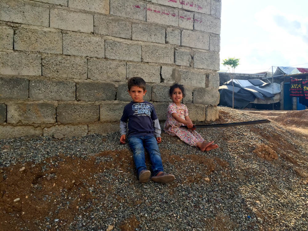 Children Syrian refugees in a camp called Darashakran, Erbil (Iraq)