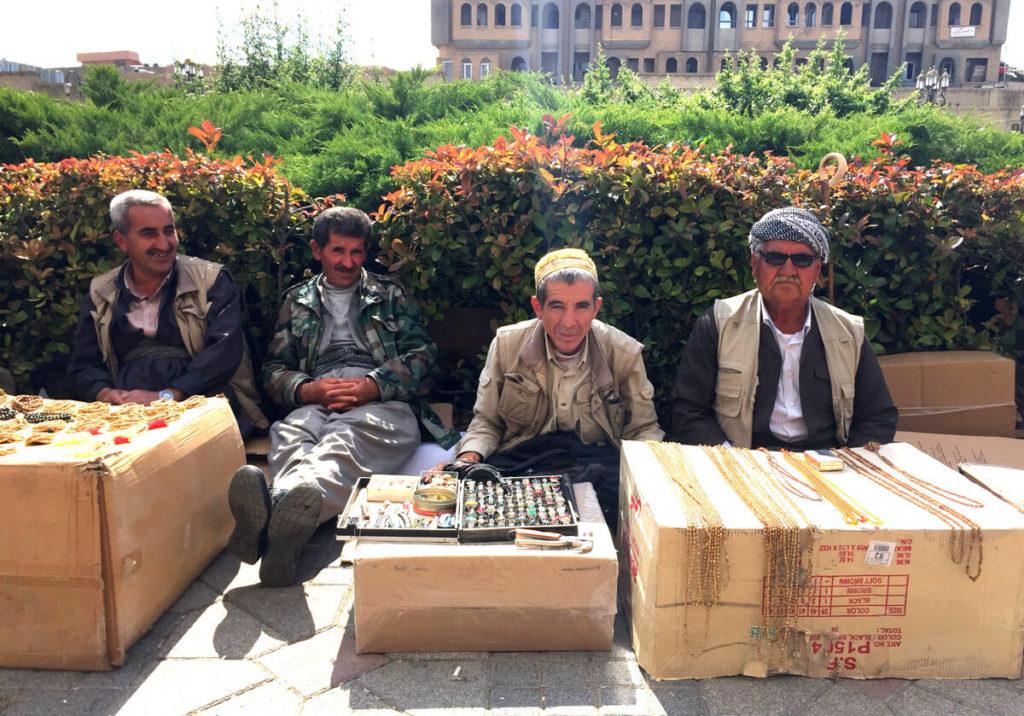 Kurdish people at Erbil's Citadel