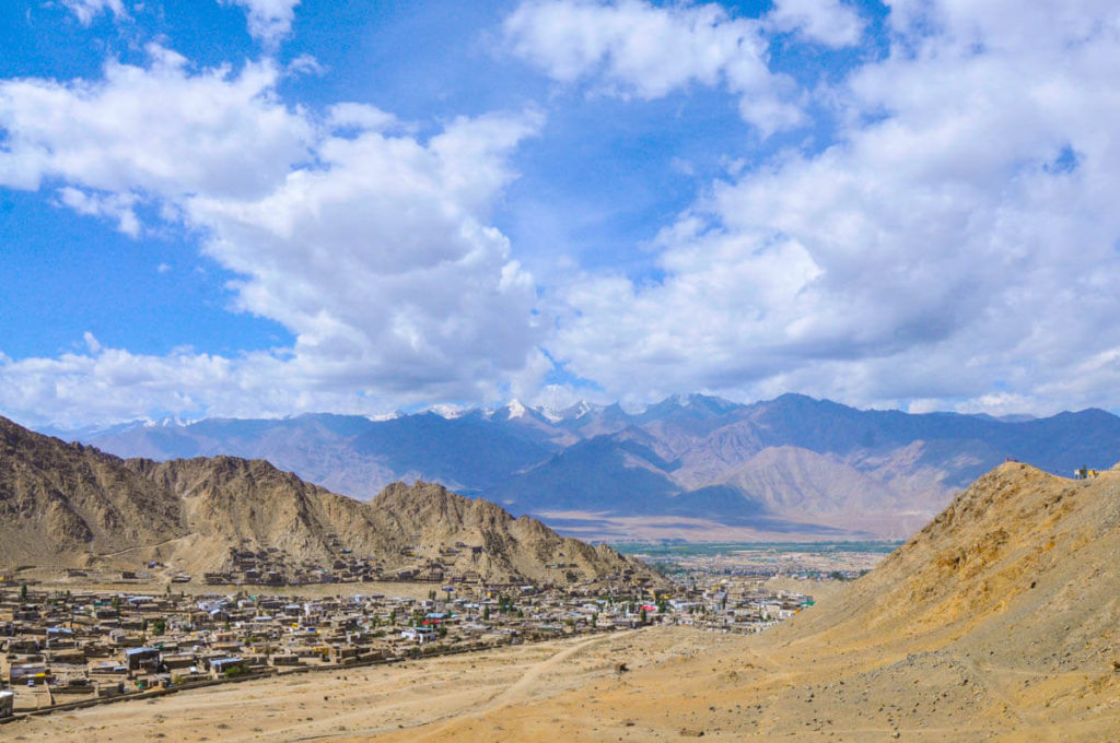 Views of Leh from Khardung La road