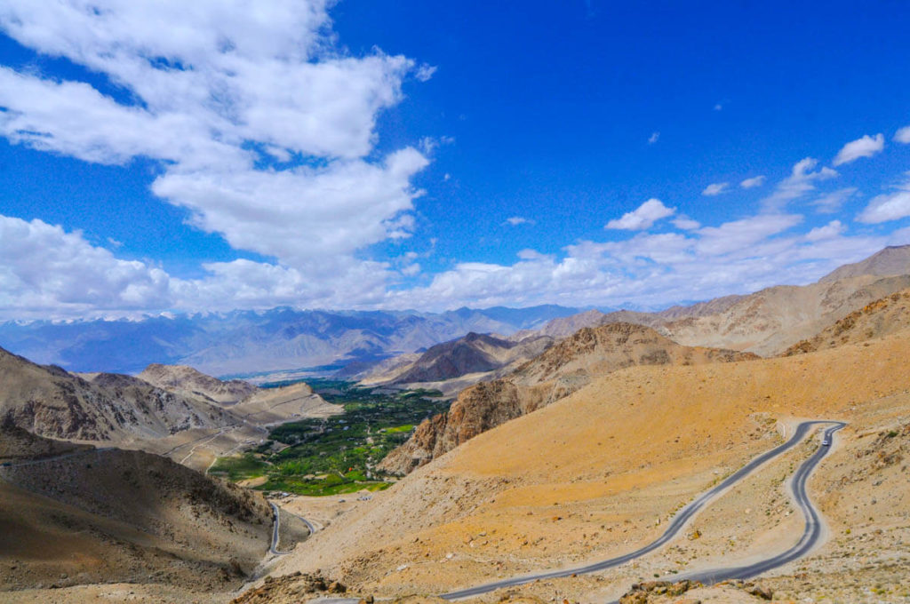 Views of Indo Valley from Khardung La, the highest motorable road in the world