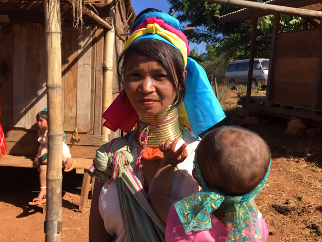 Kayan woman with her kid