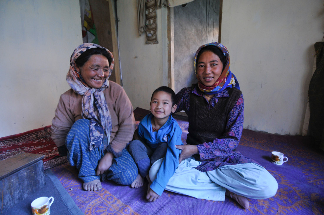 Home-stay during Markha Valley trek is the best way to mingle with Tibetan families
