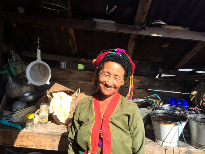 Palaung woman at her house nearby Hsipaw, which is one of the best places to enjoy Myanmar off the beaten track