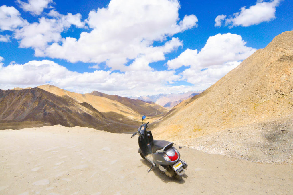 Views from the top of Khardung La, world's highest road at 5,600 meters