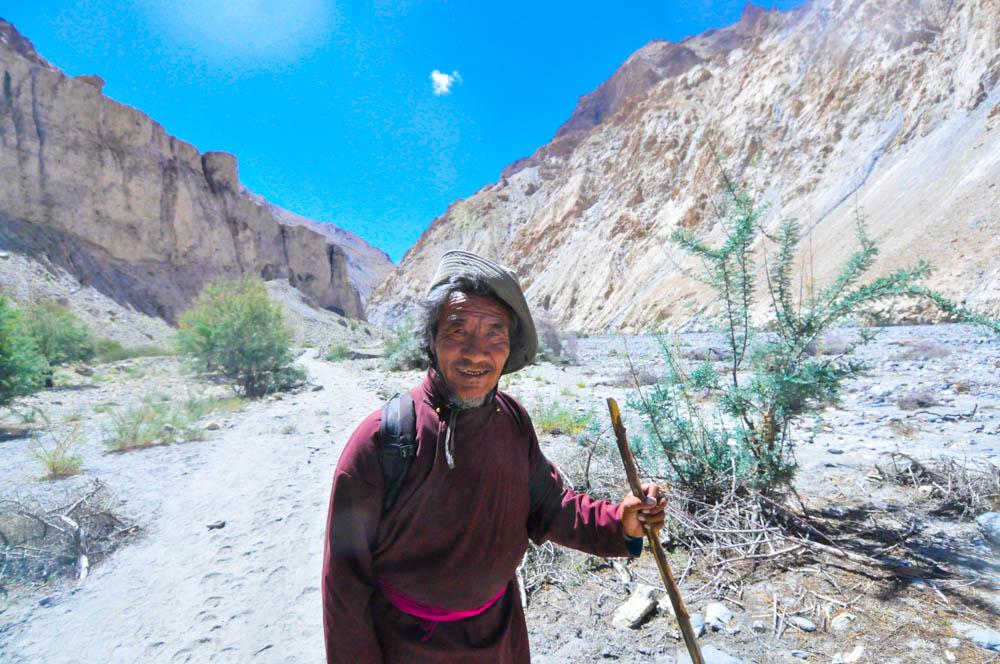 A randoom Tibetan shepherd in Markha Valley, Ladakh