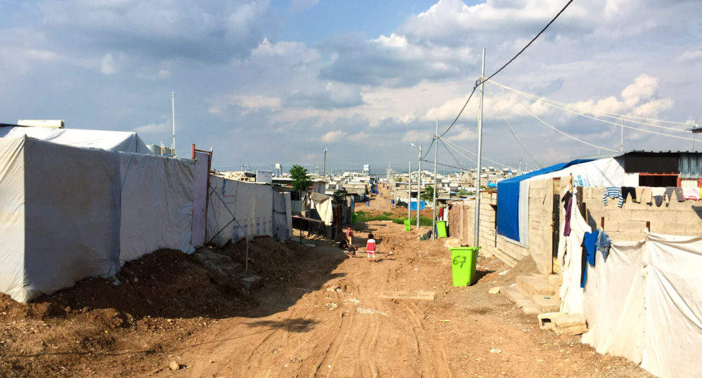 A Syrian refugee camp