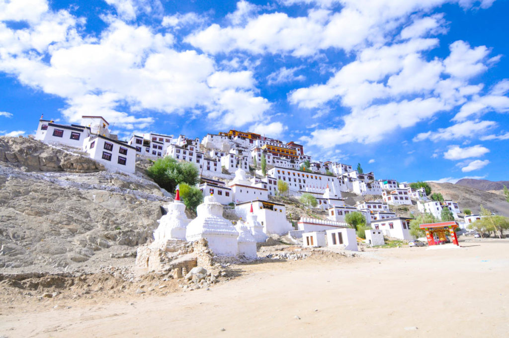 Thiksey monastery / gompa, one of the most emblematic buildings in Tibetan culture