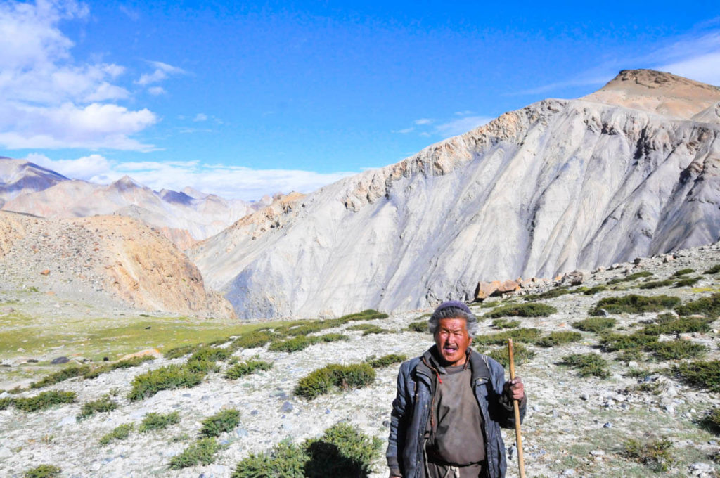 A Tibetan shepherd living at 4,200m, Ladakh