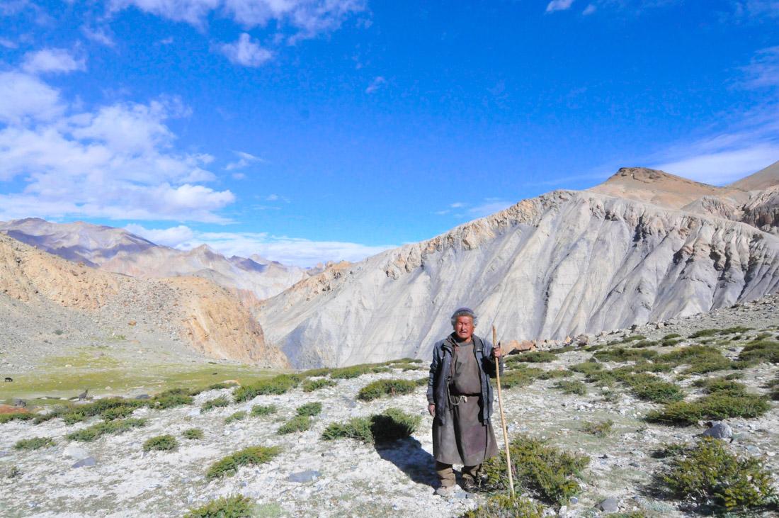 Authentic Tibetan Shepherd living at 4,500m near Nimaling, Ladakh