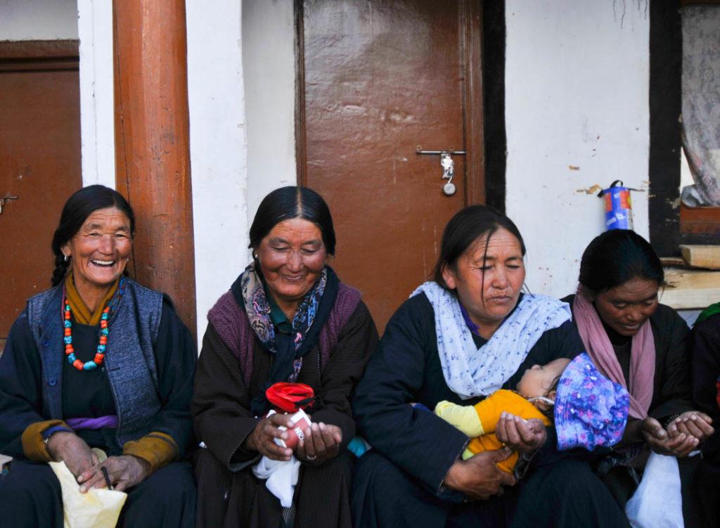 Tibetan women in Chemrey, Ladakh