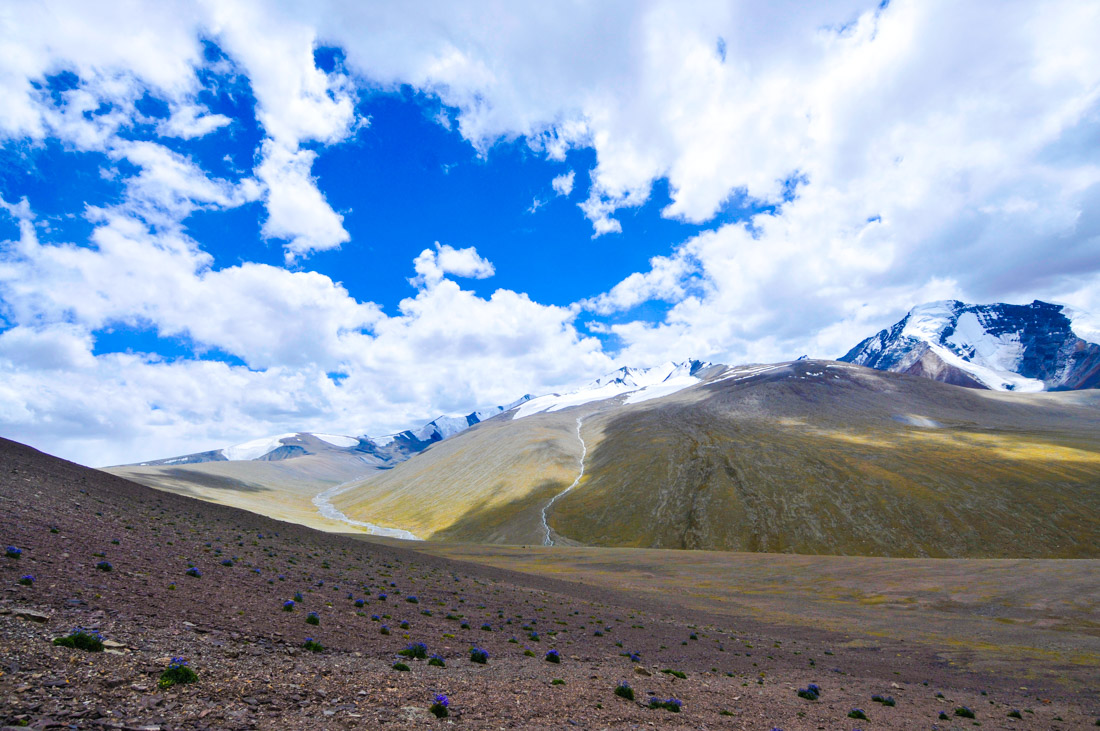 Views from Gongmaru La pass, at 5,200m