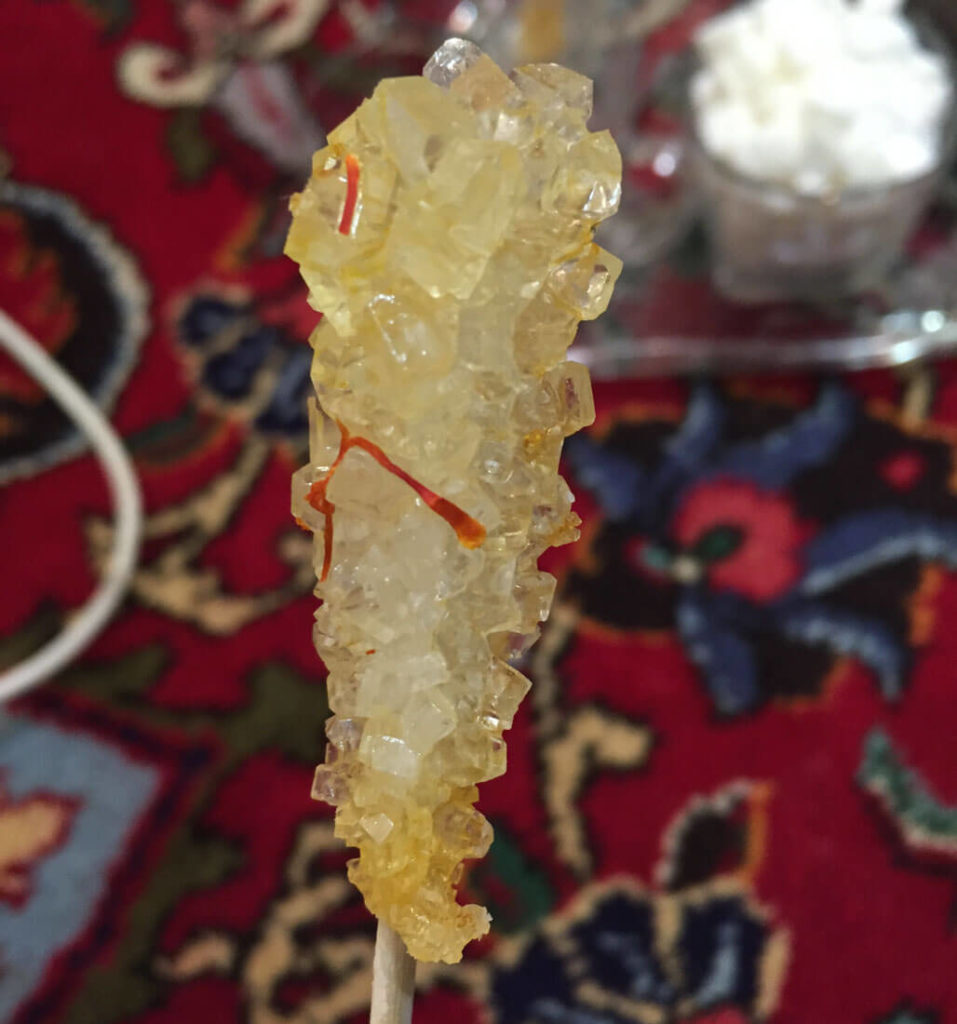 When you order chai in Iran, instead of sugar they giver you candy on a stick and you let it melt in the cup