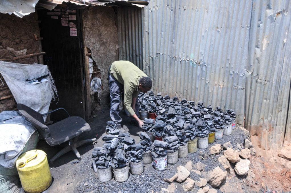 Carbon, one of the most precious elements in Kibera, Kenya