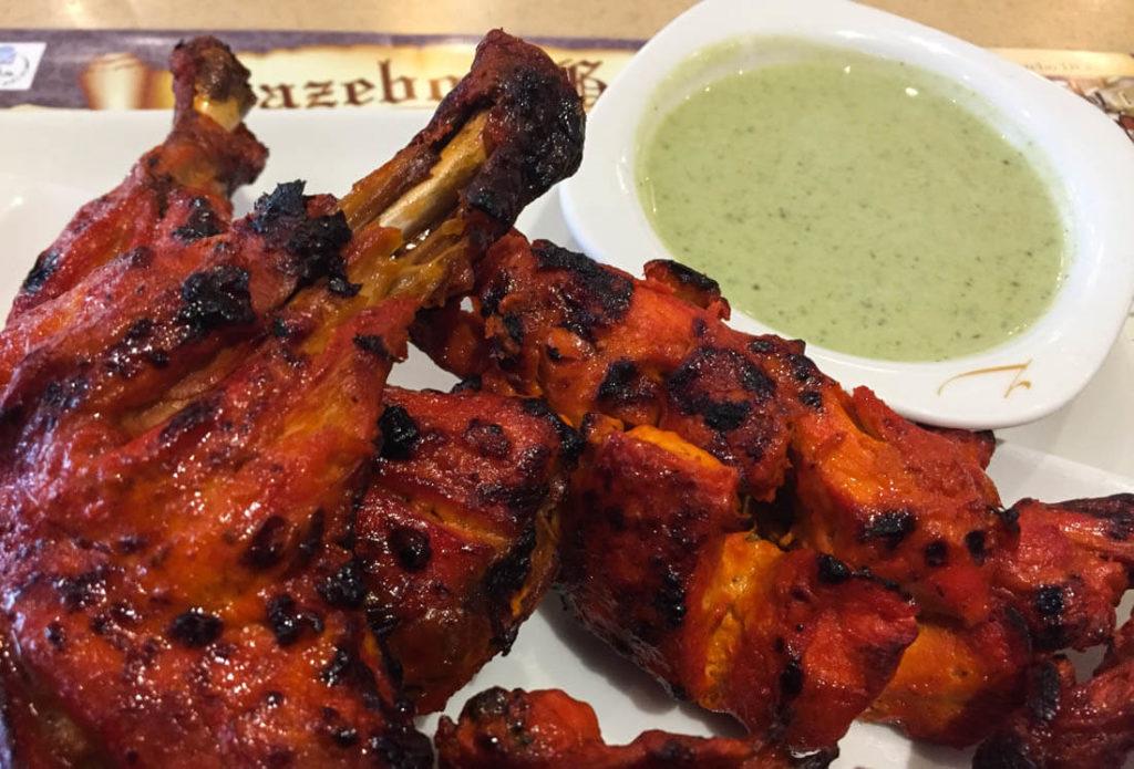 Chicken tandoori from Gazebo, the best one in Dubai