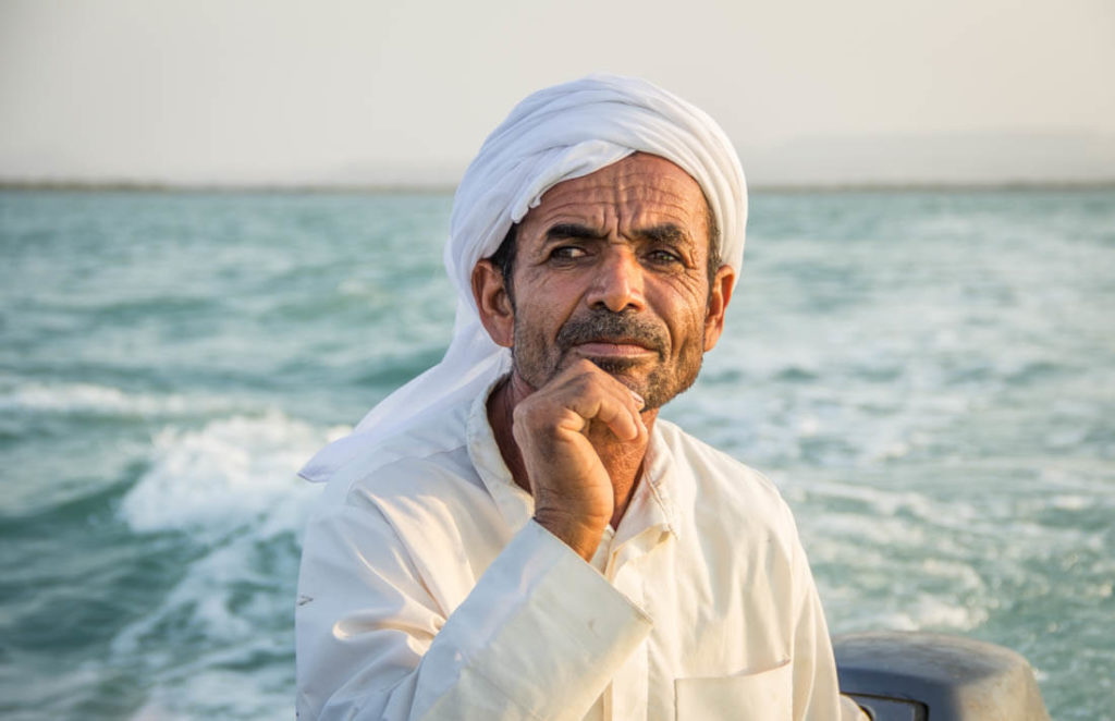 A local from Quesh Island in Iran