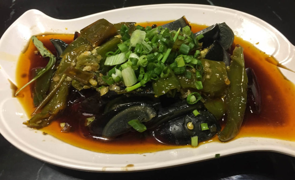 Jelly fish salad, a popular Chinese