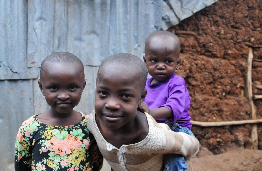 Little girls from Kibera slums in Nairobi