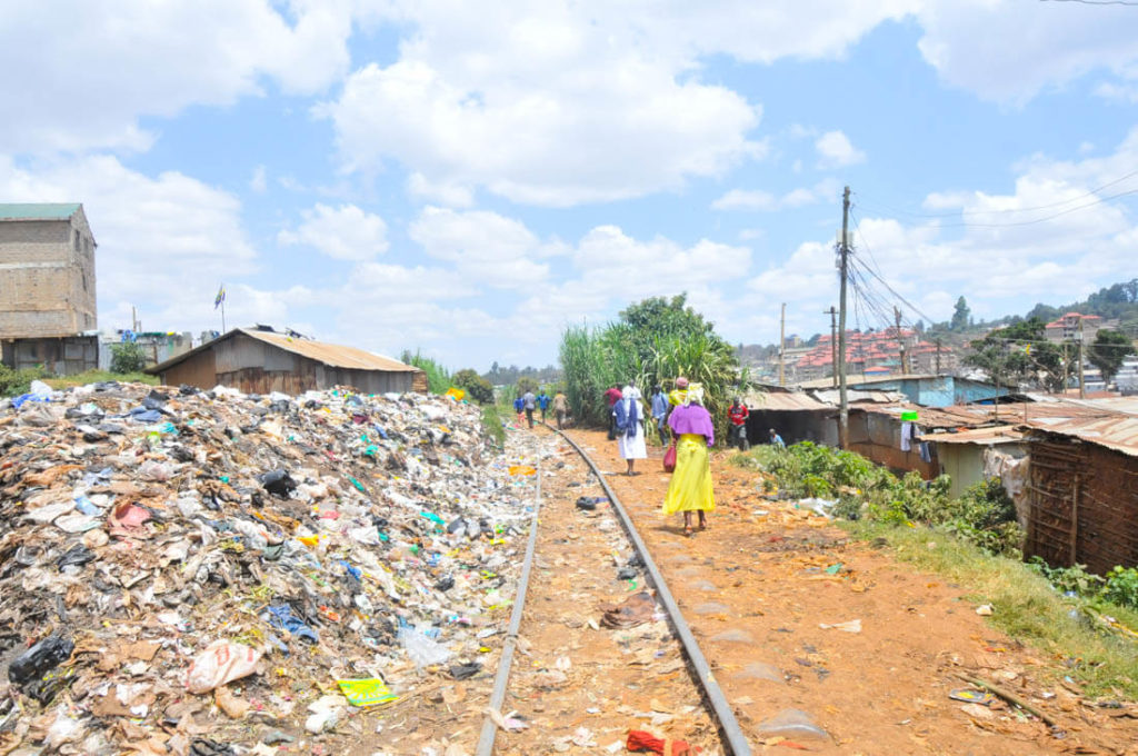 The train tracks of Kibera