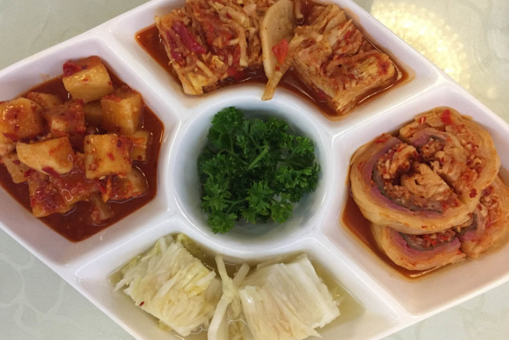 Kimchi, pickled cabbage