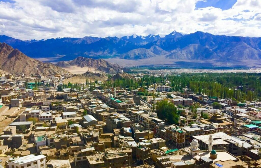 Views of Leh from Leh Palace