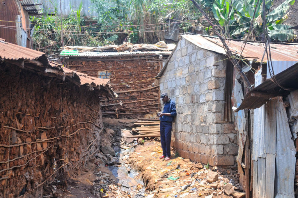 The street lanes of Kibera