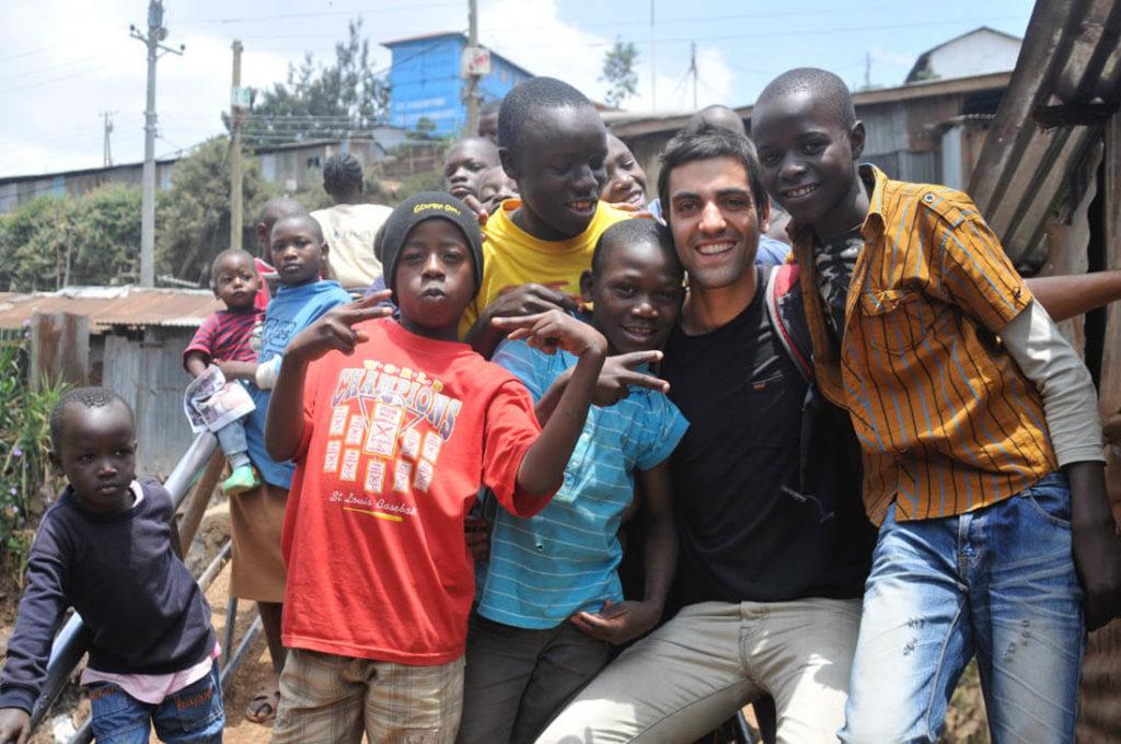 njoying with some Kenyan children from Kibera