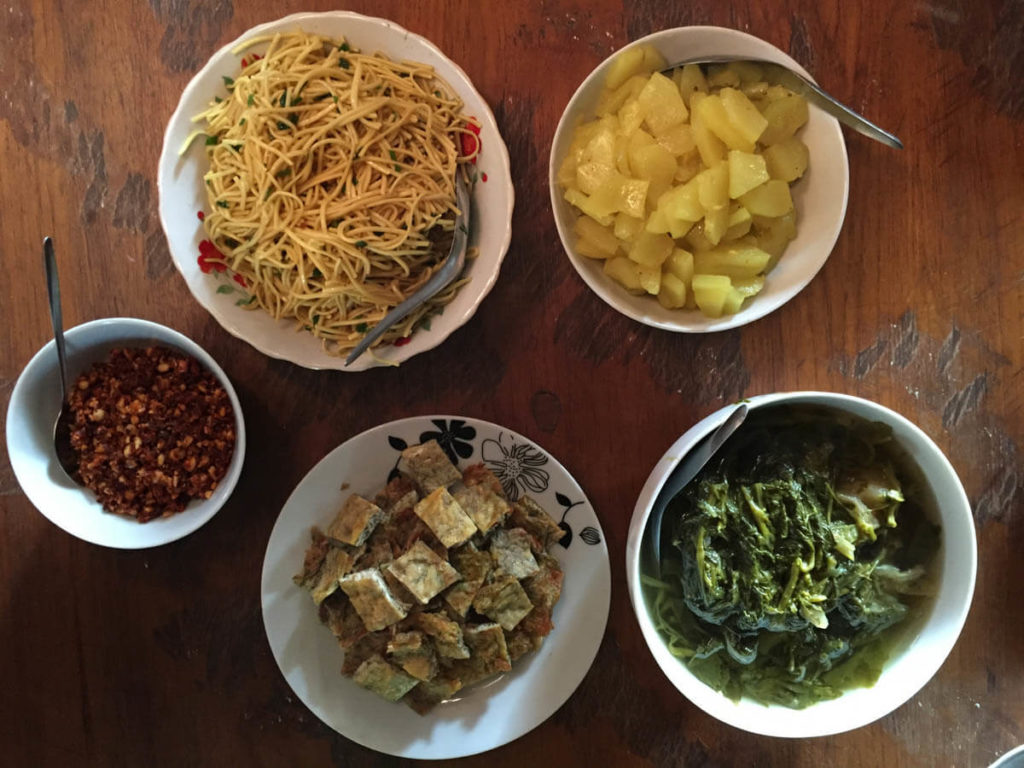 Palaung curries - Myanmar food most classic dish are different curries which vary across regions