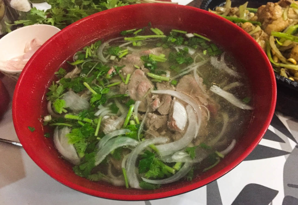 Pho Ga, rice noodles and chicken broth