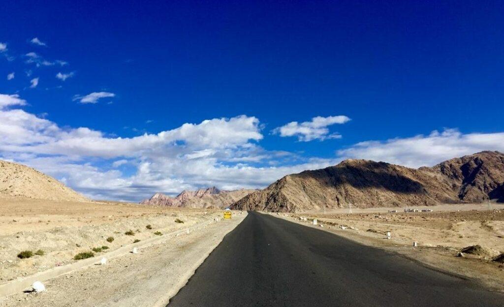 Solitary road of Ladakh