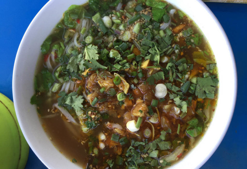 Shan noodles have a very sticky texture and may be found across all Myanmar