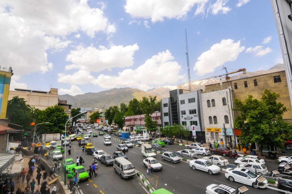 The busy capital of Teheran