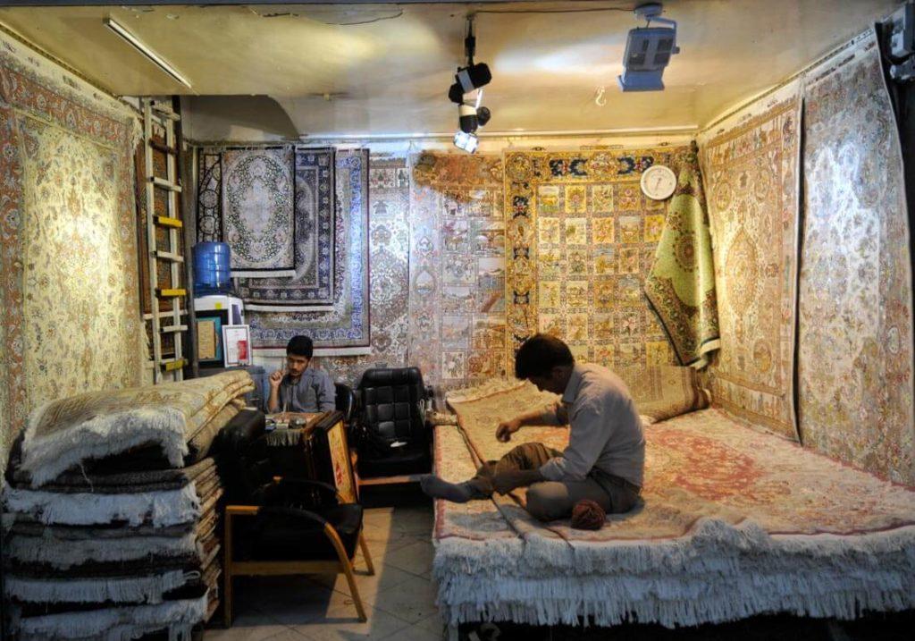 Carpet store from Tehran Grand Bazaar