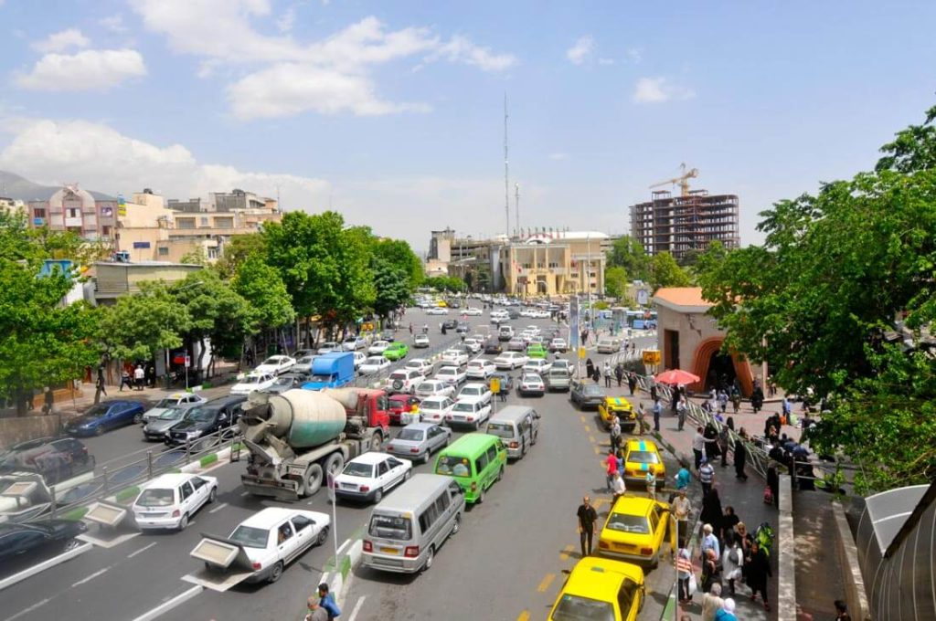 Tehran is a chaotic city full of traffic, dust and traffic lights don't respect pedestrians