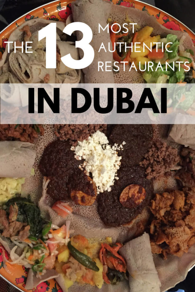 Authentic restaurants in Dubai