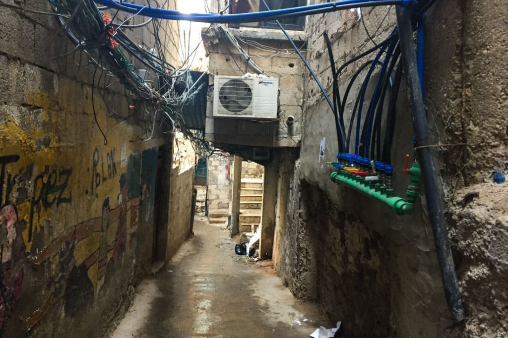 The Hezbollah and Shia neighborhood Bourj el-Barajneh, Beirut