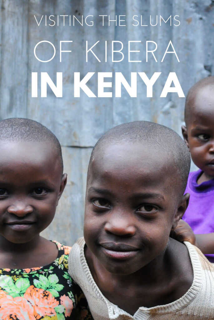 Visiting the slums of Kibera in Kenya