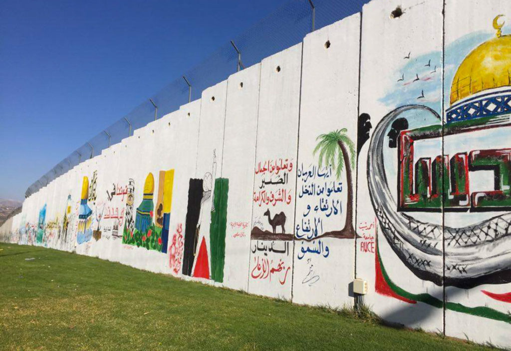 The grafitis on the wall that separates Lebanon from Israel