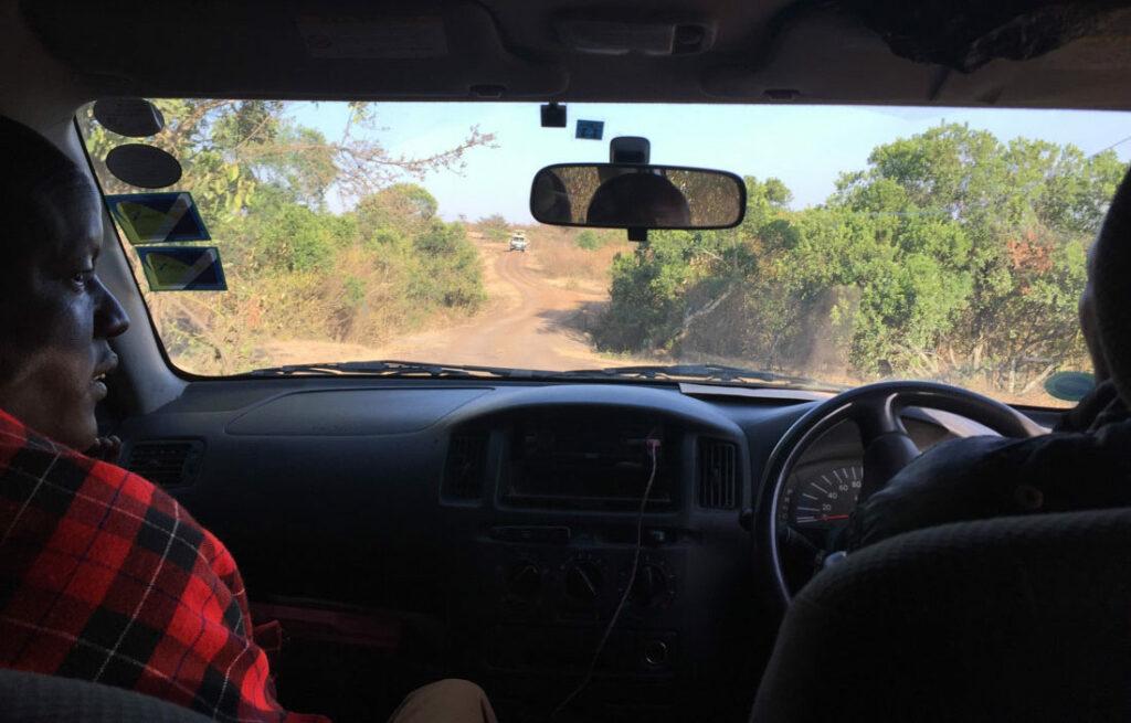 Maasai in the taxi from Narok to Sekenani
