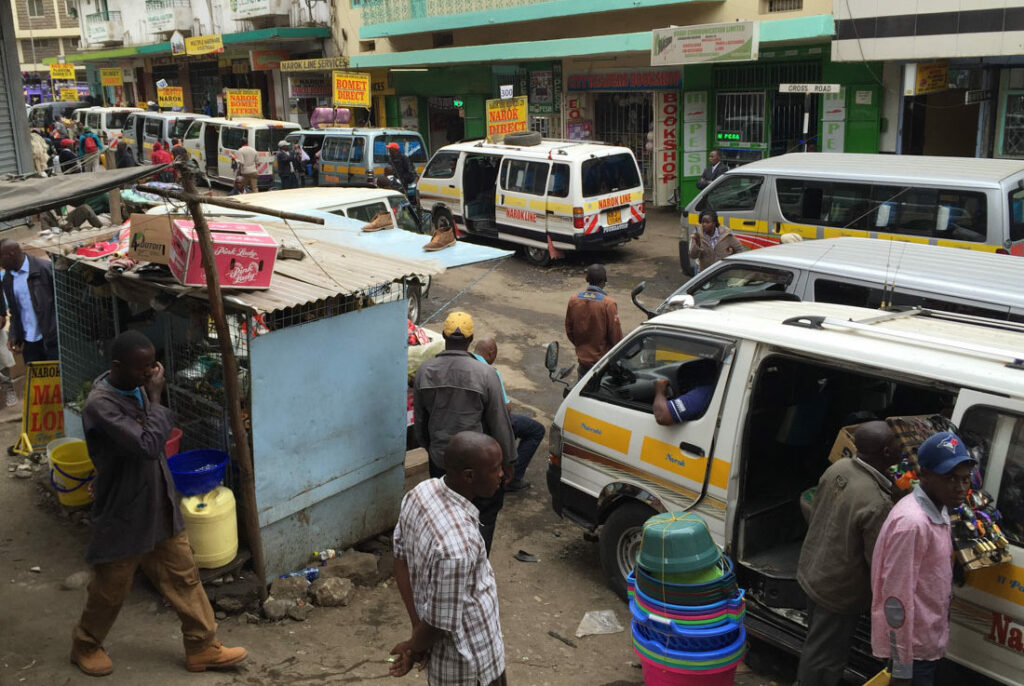 Station of the matatus going to Narok