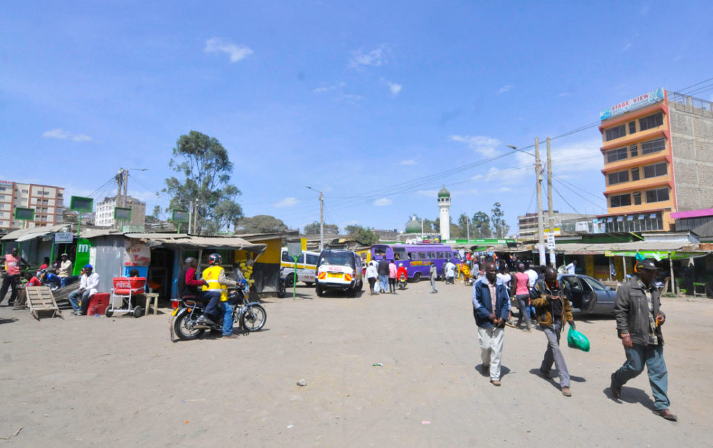 Bus station in Narok, Kenya