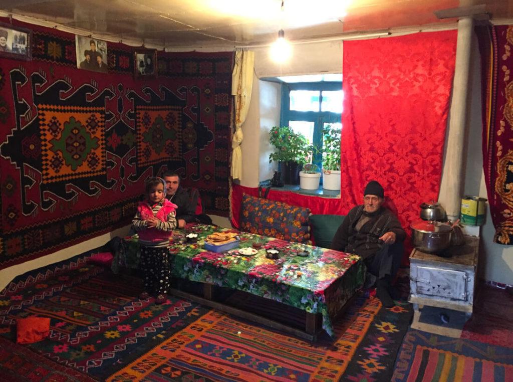 Una casa típica caucásica de Azerbaiyán