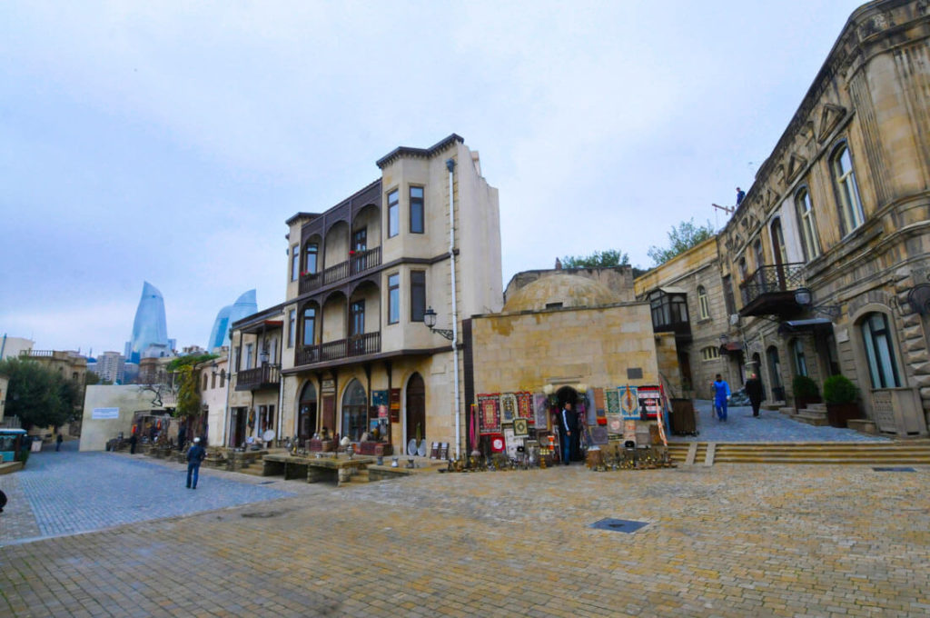 The beautiful old city of Baku