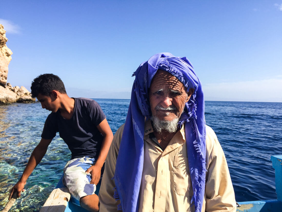 A local bedouin from Ras Abu Galum