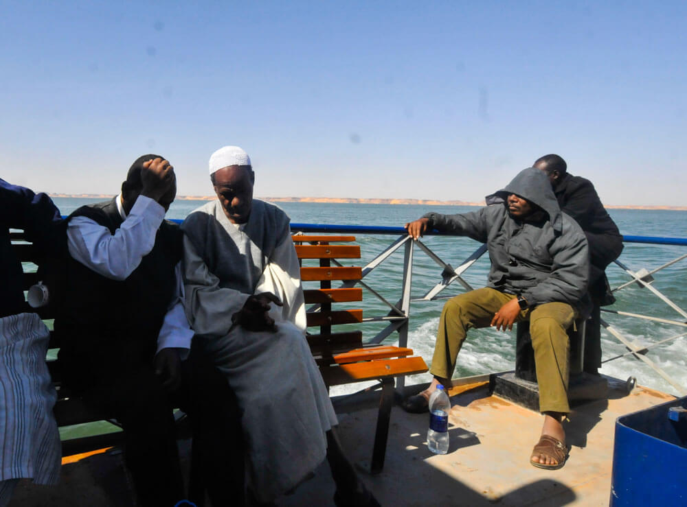 The ferry from Abu Simbel to Wadi Halfa