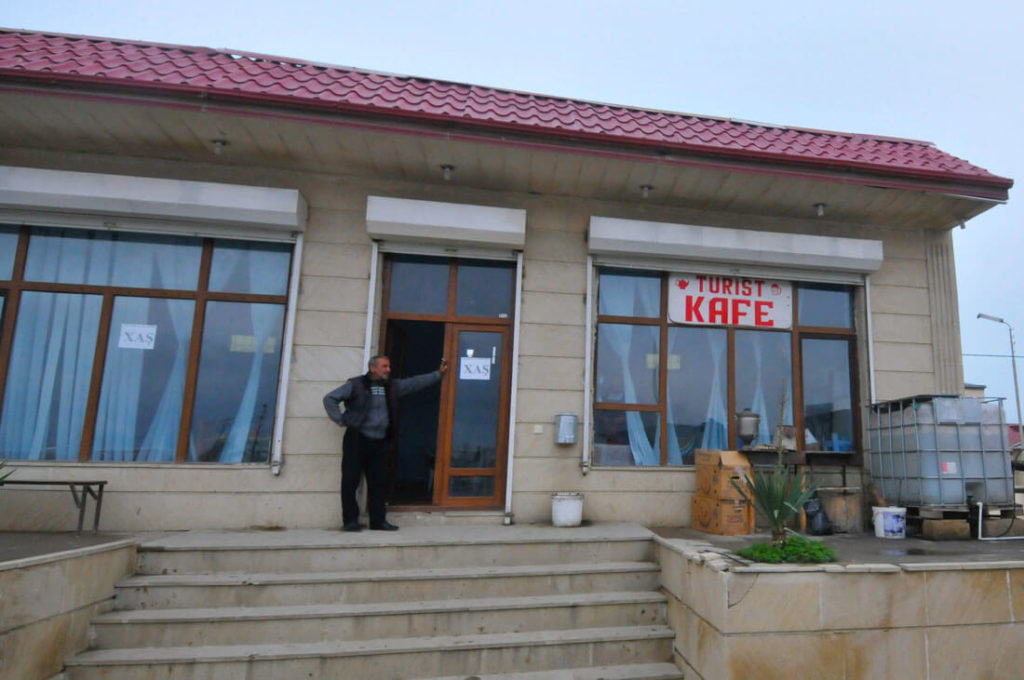 A local café in Qobustan