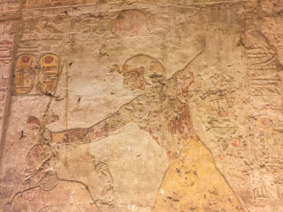 An Egyptian painting at the temple of Kalabsha
