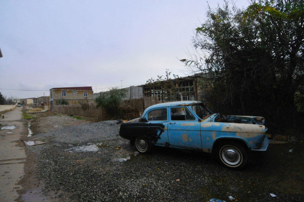 An old Soviet abandoned car in Qobustan