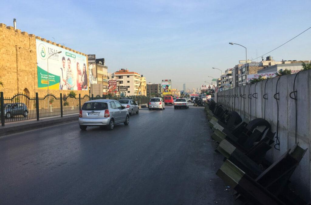 La carretera del aeropuerto a al centro de Beirut
