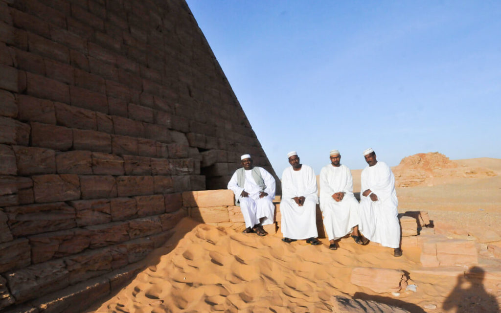 Some locals hanging out at the pyramids of Jebel Barkal, Sudan
