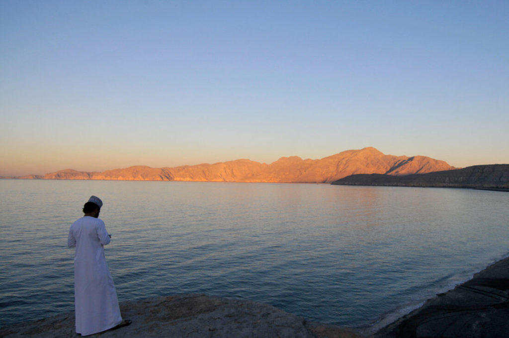 Musandam at sunset, Oman